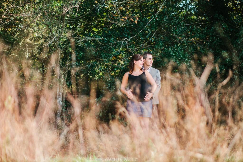 Myriam & Salvatore | Une séance grossesse à l'Abbaye de Paimpont